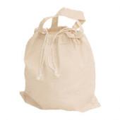 3842ZK - Baumwolltasche mit Zuziekordel und 2 kurzen Henkeln
