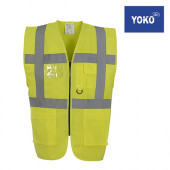 HVW801 - Multi-Functional Executive Waistcoat - Warnschutzweste mit div. Taschen - YOKO