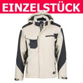 JN824-SS - Craftsmen Softshell Jacket *Gr. L - Stone/Schwarz*