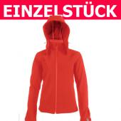 K414 - Damen Softshell-Jacke mit Kapuze KARIBAN *Gr. 3XL - Rot*