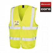 R202X - Core Zip Safety Tabard mit Ausweistasche - Result Core