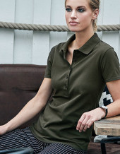 TJ145 - Ladies Stretch-5-Button Polo Tee Jays