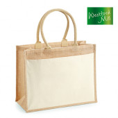 WM427 - Cotton Pocket Jute Shopper - Westford Mill