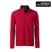 JN862 - Men's Knitted Workwear Fleece Jacket - James & Nicholson