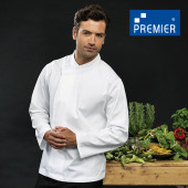PW669 - Chef´s Long Sleeve Pull on Tunic (Premier Workwear)