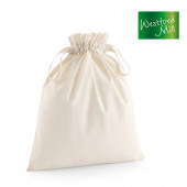 WM118L - Organic Cotton Draw Cord Bag L