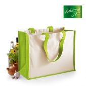 WM422 - Einkaufstasche Jute Tasche farbig 21 l