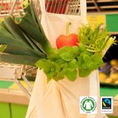 XT600 - Fairtrade Baumwolltasche, natur, lange Henkel - BCS Lizenz-Nr. 22307
