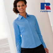 Z924F - Ladies` Long Sleeve Fitted Polycotton Poplin Shirt