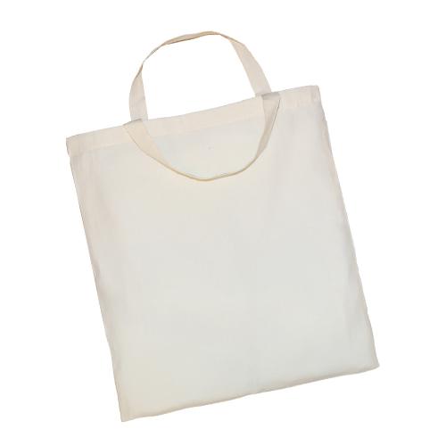 3842KE-N - Leichte Baumwolltasche BASIC mit zwei kurzen Henkeln