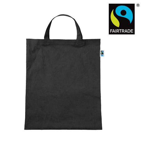 3842KF - Tasche aus Fairtrade-Baumwolle mit zwei kurzen Henkeln