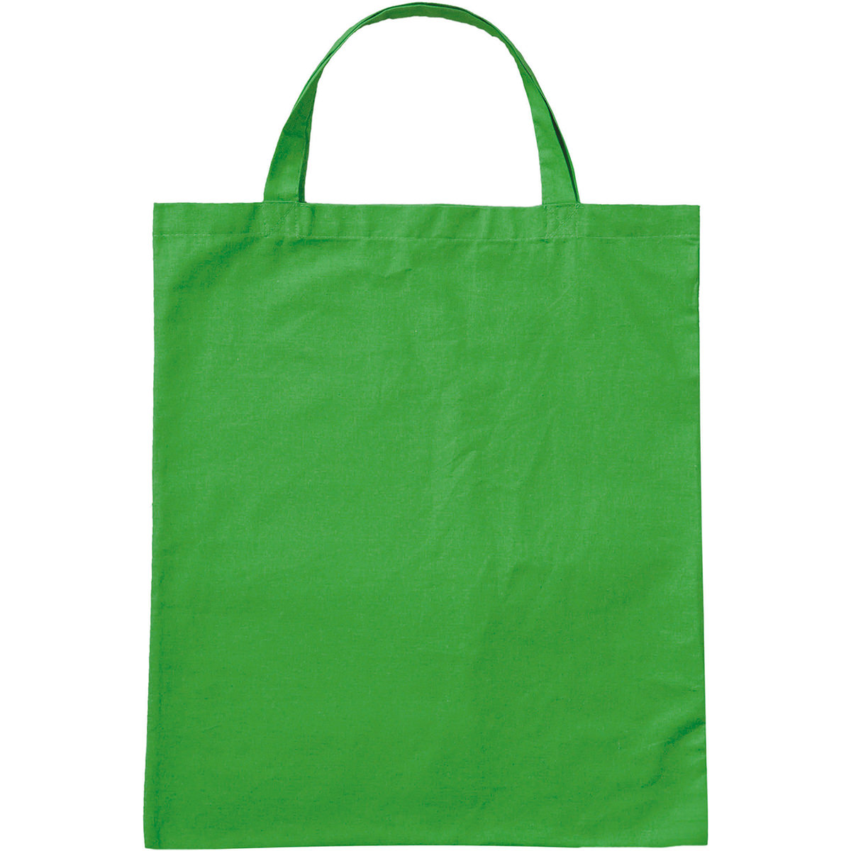 3842KOG - BIO-Baumwolltasche mit kurzen Henkeln farbig