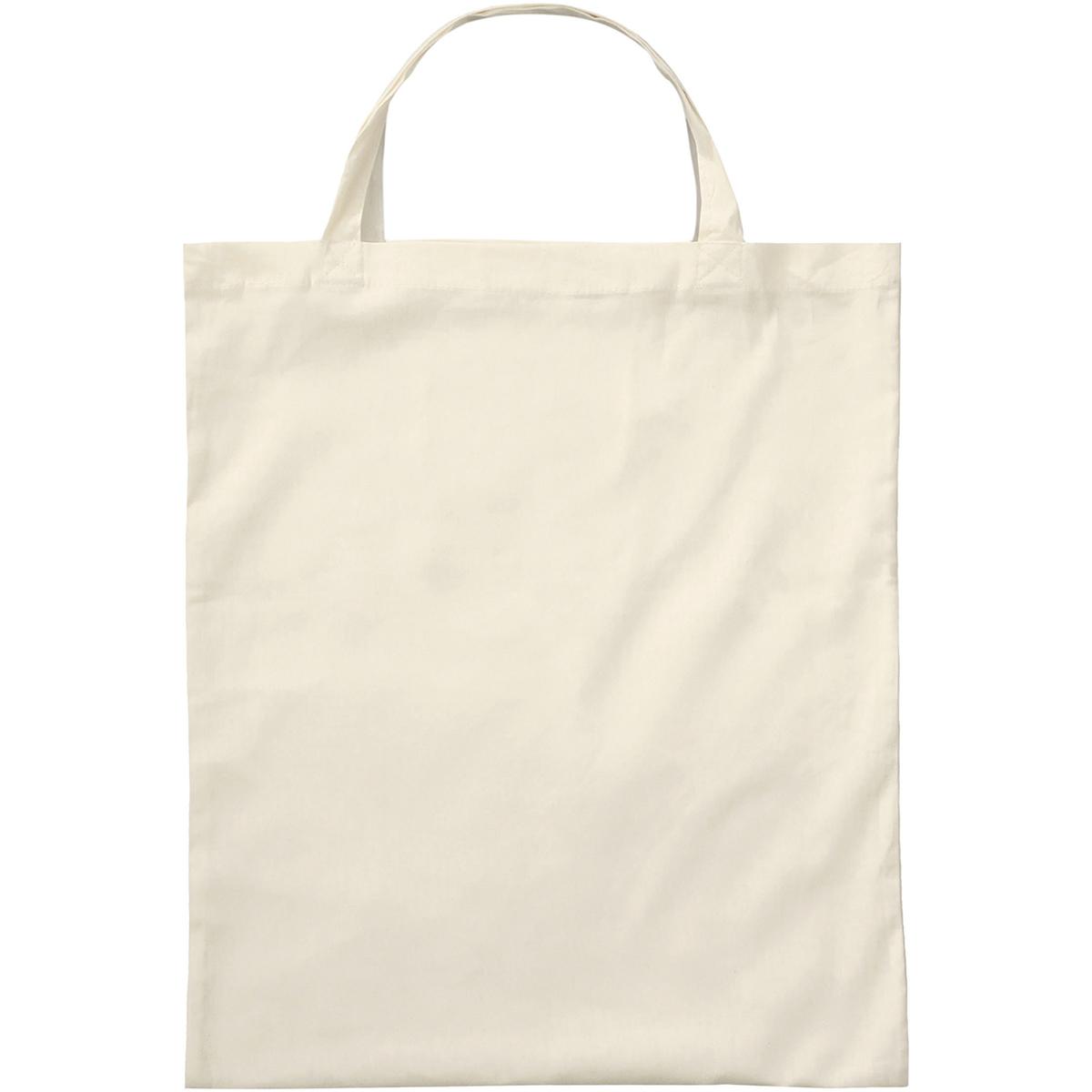 3842KOGN - BIO-Baumwolltasche mit kurzen Henkeln natur