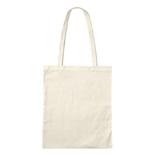 3842LE-N - Leichte Baumwolltasche BASIC mit zwei langen Henkeln *NATUR*