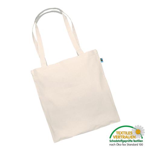 3842LF-N - Tasche aus Fairtrade-Baumwolle mit zwei langen Henkeln