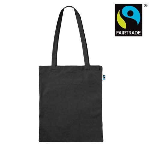 3842LF - Fairtrade Baumwolltasche mit langen Henkeln farbig