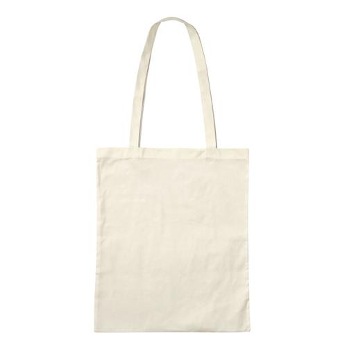 3842LOG-N - Bio-Baumwoll-Tasche mit langen Henkeln