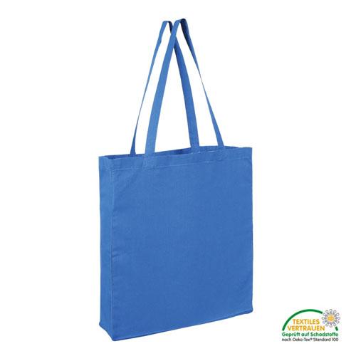 Baumwolltasche mit zwei langen Henkeln, Boden- und Seitenfalte  - 3842BSL