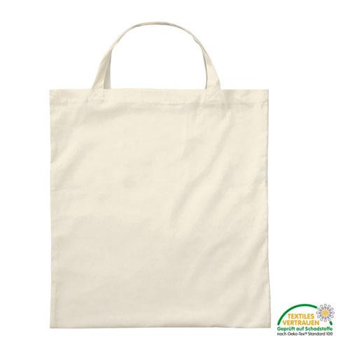 3842KN - Baumwolltasche *natur* mit zwei kurzen Henkeln