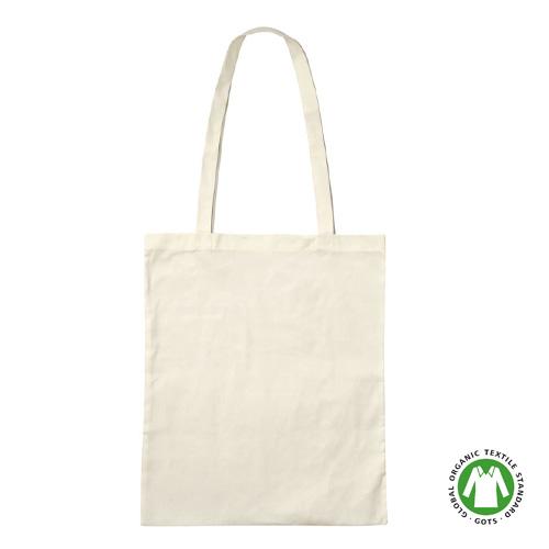 3842LON - Bio-Baumwoll-Tasche mit langen Henkeln