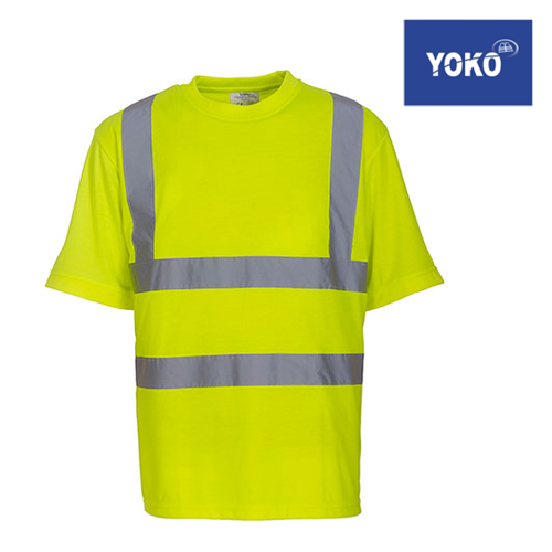 HVJ410 - Two Band & Brace Hi Vis T-Shirt - YOKO