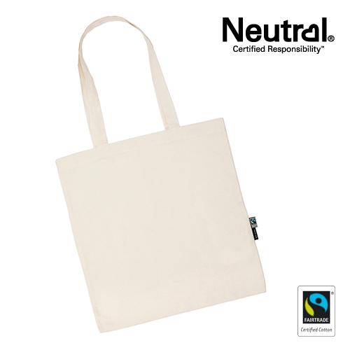 NE90014_N -  Zoom Shopping Bag with Long Handles - Neutral