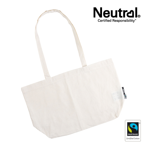 NE90015_N - Shopping Bag with Gusset - Neutral