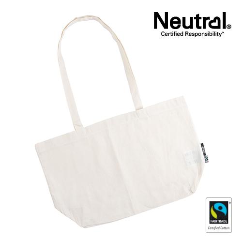 NE90015_N - Shopping Bag with Gusset - Neutral