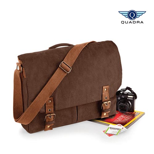 QD625 - Vintage Canvas Satchel Messenger Quadra