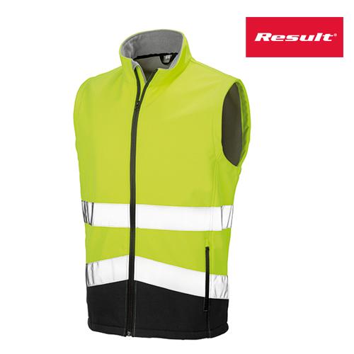 R451X - Printable Safety Softshell Gilet - Warnschutzweste - Result