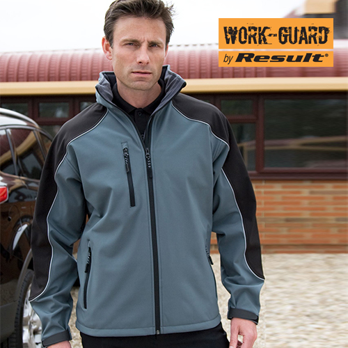 RT118 - Ice Fell Hooded Soft Shell Jacket (Result WORK-GUARD)