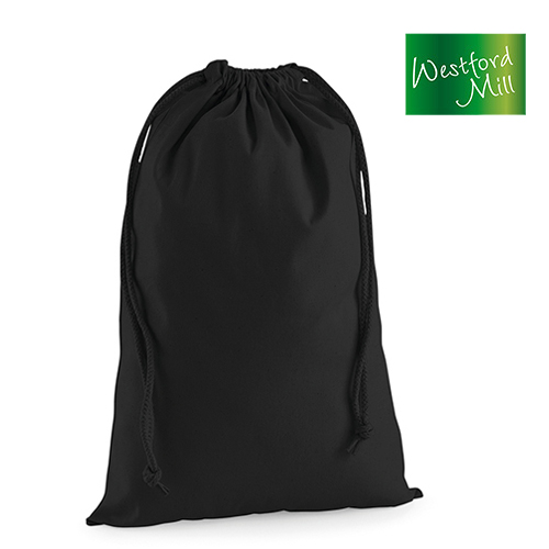 Premium Cotton Stuff Bag / Zuziehbeutel L (40 x 61,5 cm) - Westford Mill - WM216L_S