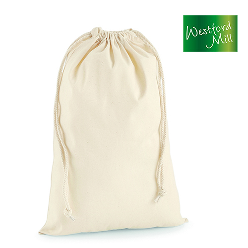 Premium Cotton Stuff Bag / Zuziehbeutel M (31 x 48 cm) - Westford Mill - WM216M_N