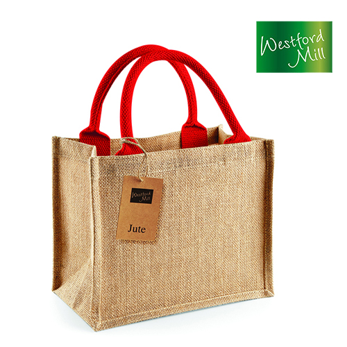 WM412-N - Jute Mini Gift Bag - Westford Mill