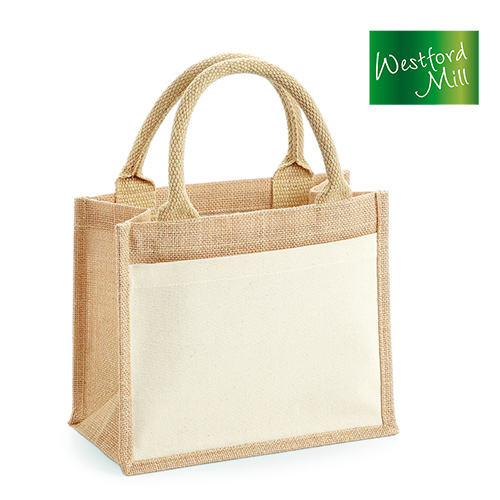 WM425 - Cotton Pocket Jute Gift Bag - Westford Mill