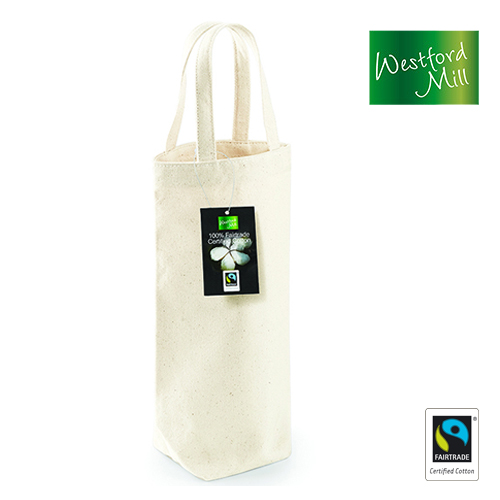 WM620-N - Fairtrade Cotton Bottle Bag - Westford Mill