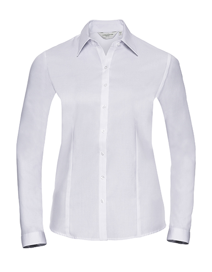 Z962F - Ladies` Long Sleeve Tailored Herringbone Shirt