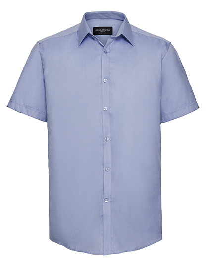 Z963 - Men`s Short Sleeve Tailored Herringbone Shirt