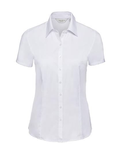 Z963F - Ladies` Short Sleeve Tailored Herringbone Shirt