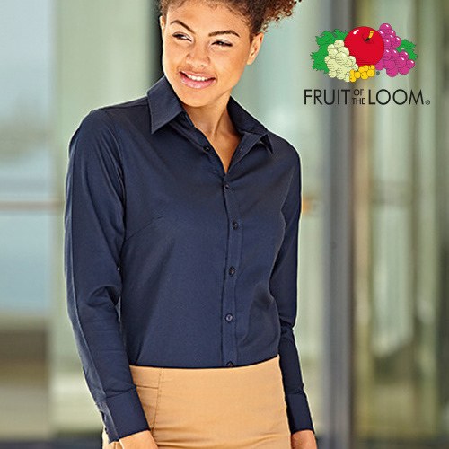 F700 - Ladies Long Sleeve Oxford Shirt