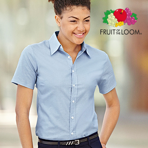 F701 - Lady-Fit Short Sleeve Oxford Blouse