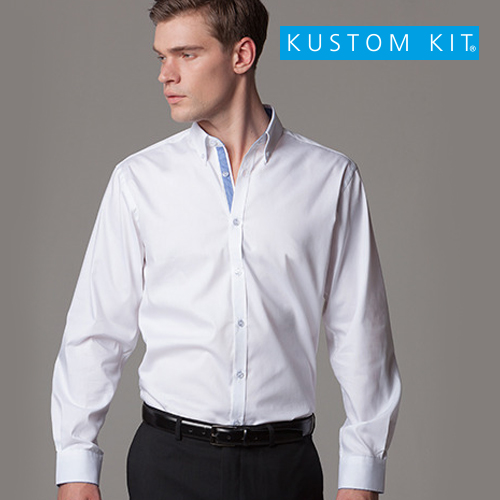 K190 - Contrast Premium Oxford Shirt Button Down