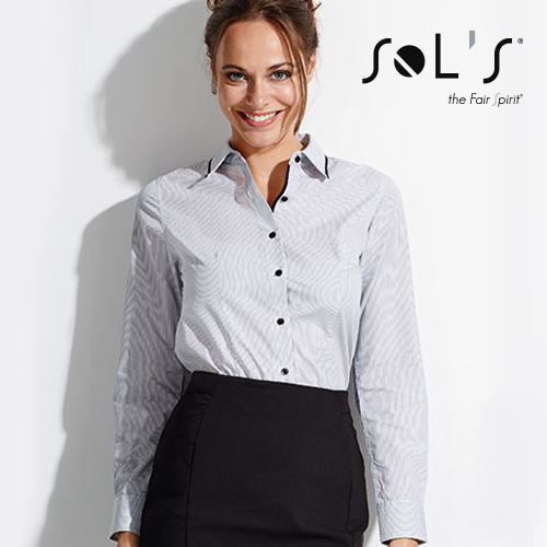 L608 - Women`s Long Sleeves Fitted Shirt Baxter