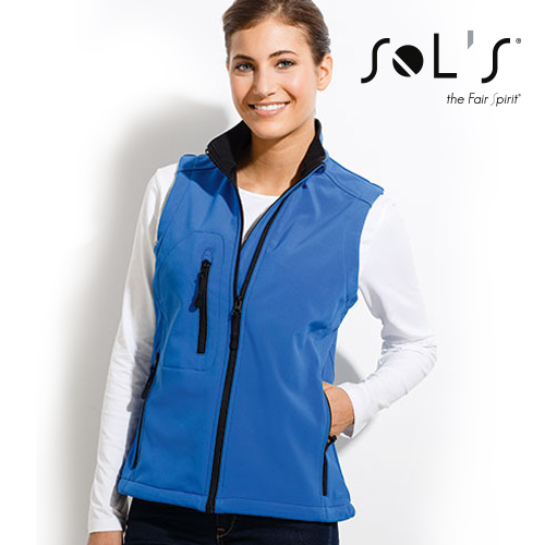 Womens Sleeveless Softshell Rallye - L847