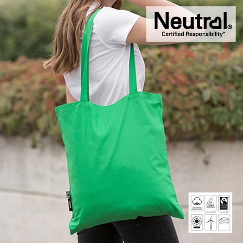 NE90014 - Fairtrade Jutebeutel mit langen Henkeln farbig