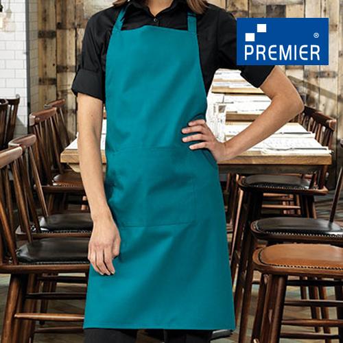 PW154 - Colours Bib Apron With Pocket (Premier Workwear )