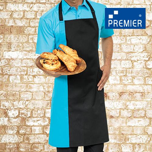 PW162 - Contrast Bib Apron (Premier Workwear)