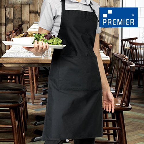 PW24 - Deluxe Latzschürze mit Tasche (Premier Workwear)