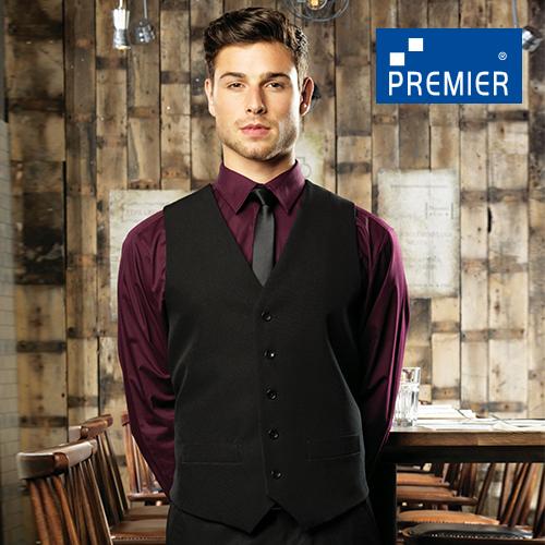 PW622 - Men´s Lined Polyester Waistcoat (Premier Workwear)