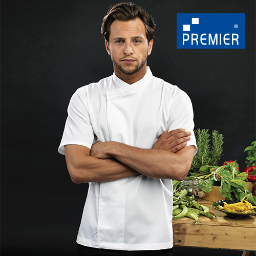 PW668 - Chef´s Short Sleeve Pull on Tunic (Premier Workwear)